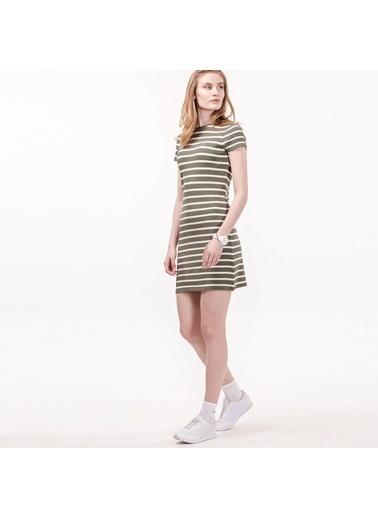 Kısa Kollu Çizgili Mini Elbise-Lacoste